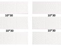 Плитка СП658 Плитка MONOPOLE ESENCIA RELIEVE BLANCO BRILLO 10*30