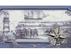 Плитка СД129 Декор MARITIMA NAUTICA CENEFA-1 10*20