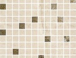 ALBERONA  Mosaico Marfil-Gold 30x30