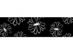 Cenefa Flor negro 10 x 30