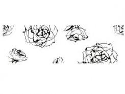 Cenefa Roses blanco 10 x 30