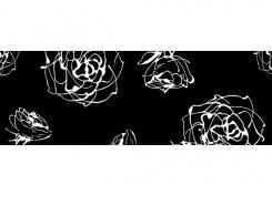 Cenefa Roses negro 10 x 30