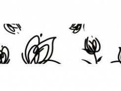 Cenefa Tulipan blanco 10 x 30