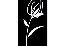 Decor Blancos Tulipan negro 30 x 60