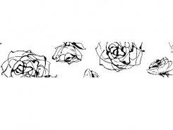 Listello Roses blanco 10 x 60