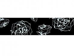 Listello Roses negro 10 x 60