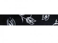 Listello Tulipan noir 10 x 60