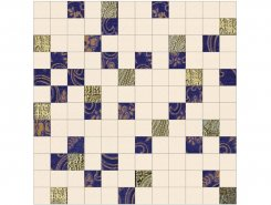 Stariy Arbat Mosaico Glam Blue-Gold 30x30