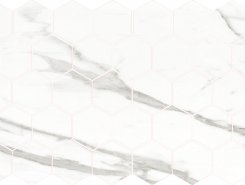 Плитка Calacatta POL гексагон. мозаика 37x64