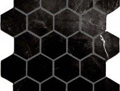 Плитка Marrone oriente POL гексагон. мозаика 37x64