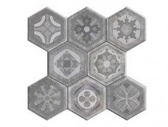 Pav. Hexagonal Asland Gris 37.2x38.8