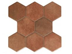 Плитка Pav. HEXAGONAL CASTILLA MARRON 37.2x38.8
