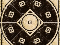 Luxe Pulido Negro-Crema панно напольное 77.8x77.8