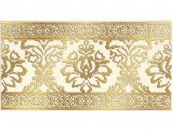 Плитка 1502-0573 Бордюр Катар белый 13х25