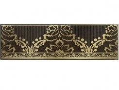 Плитка 1502-0576 Бордюр Катар коричневый 7,5х25