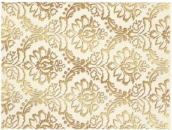 Плитка 1634-0090 Декор Катар белый 25х33