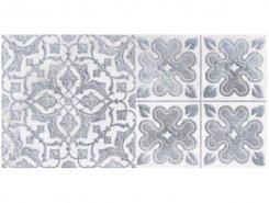 Плитка 1641-0094 Кампанилья Серый Декор 2 20х40