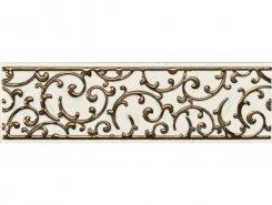 Плитка 1502-0603 Бордюр Анастасия орнамент крем 7,5х25