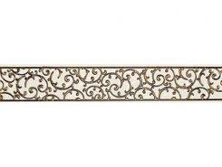 Плитка 1504-0132 Бордюр Анастасия орнамент крем 7,5х45