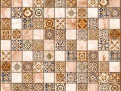 Плитка Плитка 5032-0199 Орнелла арт-мозаика коричневый 30х30