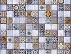 Плитка Плитка 5032-0200 Орнелла арт-мозаика синий 30х30