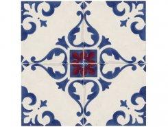 Плитка Декор 8330 Jolie Blanc Bleu Trama (комп/4шт) 10х10