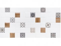 Плитка 1041-0238 Астрид декор 1 белый 20х40