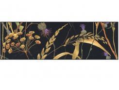 Плитка SST\A03\12000R Бордюр Астория Птицы черный обрезной 8x25