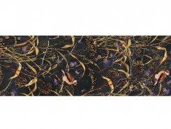 Плитка SSTA0112000R Декор Астория Птицы черный обрезной 75x25