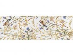 Плитка SSTA0212105R Декор Астория Птицы белый обрезной 75x25