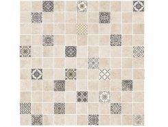Плитка 5032-0291 Астрид мозаика гл. декор кофейный 30х30