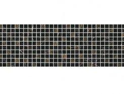 Плитка MM12111 Декор Астория черный мозаичный 75x25