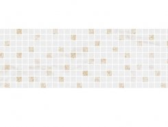 Плитка MM12112 Декор Астория белый мозаичный 75x25
