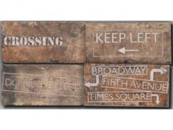 ROAD SIGNS MIX CHELSEA 10X20
