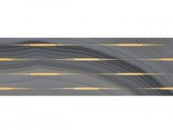 Плитка Декор Agat Lines серый 20х60