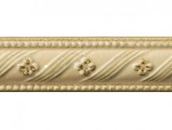 Плитка Rialto Crema List. Floreale Painted 3.5x15