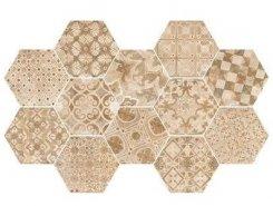 Плитка Плитка R55U Epoca Decoro cementine Rosa 21*18.2
