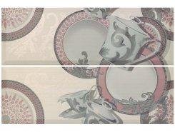 Плитка Декор Set (2) Delpha Rosa/Gris 20*60 (отпуск.компл. 2 шт)
