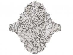 Плитка Декор Curvytile Lithium Zig-Zag Grey 26.5x26.5