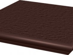 Natural Brown ступень угловая с носиком структурированная33*33*1,1