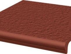 Natural Rosa ступень простая с носиком структурированная30*33*1,1