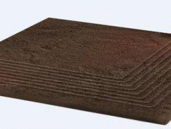 Semir Brown ступень угловая структурированная30*30*1,1