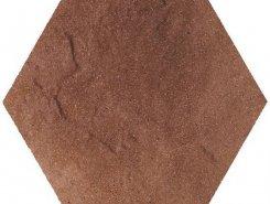 Taurus Brown Heksagon плитка напольная структурированная26*26