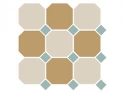 4416+03 OCT13-B White 16 Yellow 03 OCTAGON/Turquoise 13 Dots 30x30 см