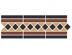 Border GUILFORD 2 Strip Stand.(Dot14, Tr.1/2 21, Strip 20+14) 42х14,5 см
