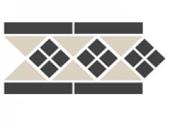 Border LISBON-1 with 1 strip Stand.(Tr.16, Dots 14, Strips 14) 28х15 см