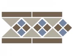Border LISBON with 1 strip (Tr.01, Dots 29+11, Strips 29) 28х15 см