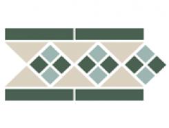 Border LISBON with 1 strip (Tr.16, Dots 13+18, Strips 18) 28х15 см