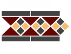 Border LISBON with 1 strip (Tr.20, Dots 14+21, Strips 14) 28х15 см