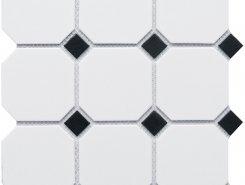 Octagon big White/Black Matt (GTPL61466/CLA006) 300х300х6